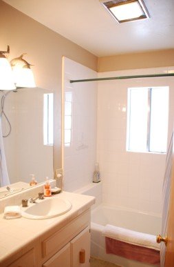 View of lower bathroom