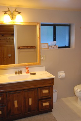 View of upstairs bathroom
