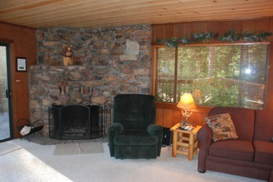 Enjoy our large stone fireplace